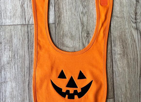 Pumpkin Face Bib