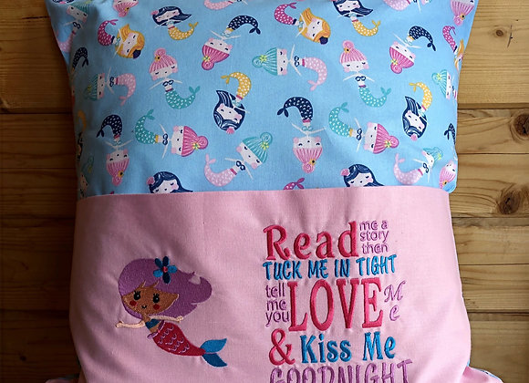 Mermaid Embroidered Story Cushion