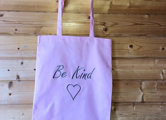 "Pink ""Be Kind"" Tote Bag"