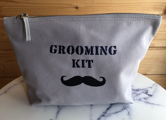 Mens Grooming Kit Accessory Bag