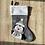 Thumbnail: Personalised Penguin Christmas Stocking Grey