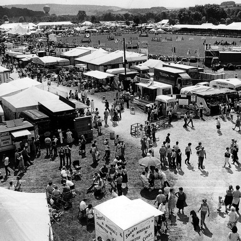 Aerial view of a past Bakewell Show