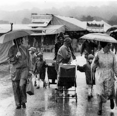 Showgoers brave the rain