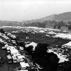 Aeriel view of the showground