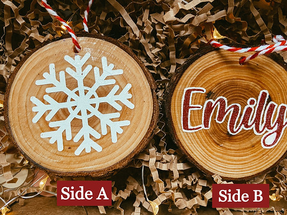 Double Sided w/ Name | Ornament