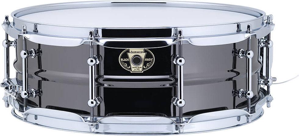 """Ludwig LW5514C 14"""" x 5.5"""" Black Magic Snare Drum"""