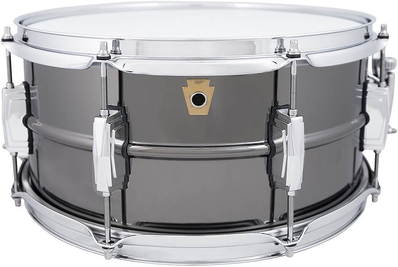 "Ludwig LB415 8 Lug Black Beauty 14"" x 6.5"" Snare Drum"