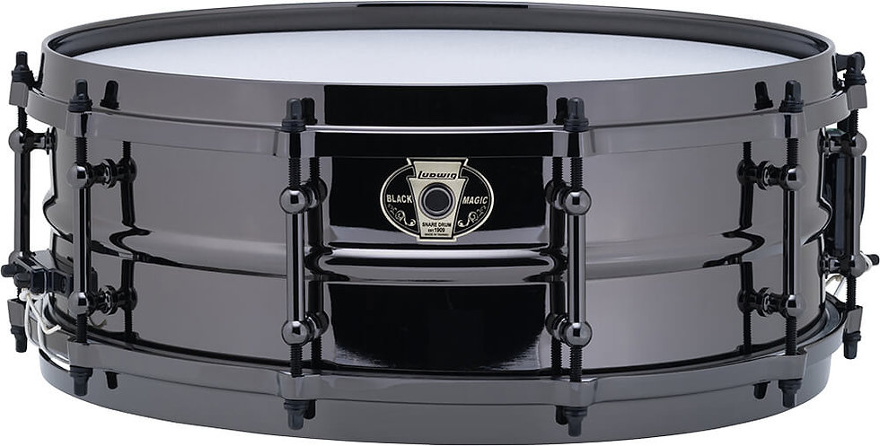 "Ludwig LW5514 14"" x 5.5"" Black Magic Snare Drum"