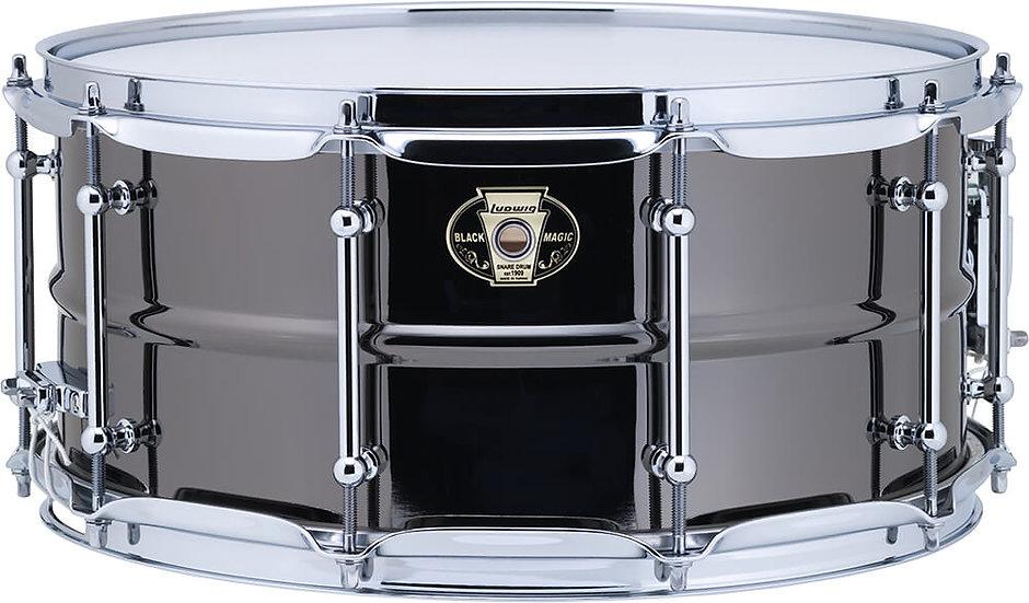 """Ludwig LW6514C 14"""" x 6.5"""" Black Magic Snare Drum"""