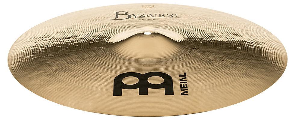 """Meinl 21"""" Byzance Brilliant Medium Ride Cymbal"""