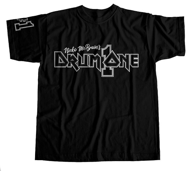 Nicko McBrain's Drum One Logo T-Shirt - Black