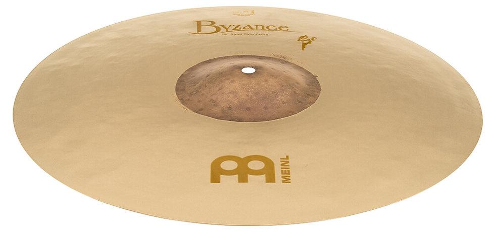 "Meinl 18"" Byzance Benny Greb Vintage Thin Sand Crash Cymbal"