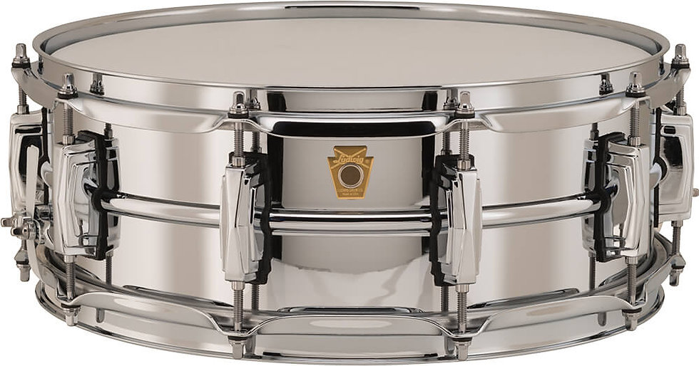 """Ludwig LB400B 14"""" x 5"""" Chrome Over Brass Snare Drum"""
