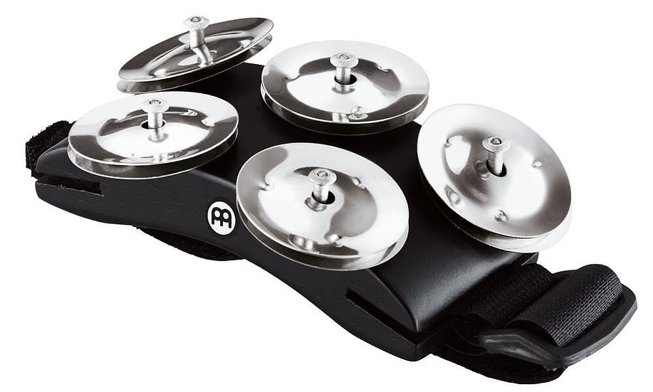 Meinl CFT5-BK Cajon Foot Tambourine with Strap Fitting