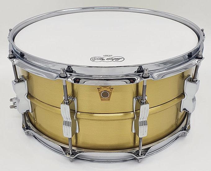 "Ludwig 14"" x 6.5"" LB654B Acro Brass Snare Drum"