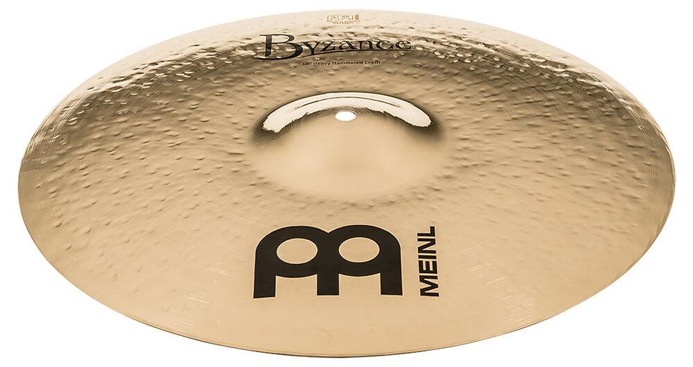 "Meinl 18"" Byzance Brilliant Heavy Hammered Crash Cymbal"