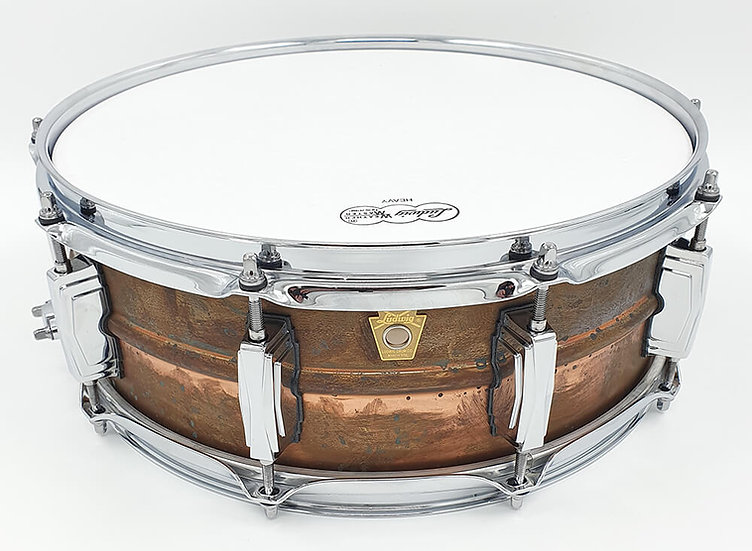 """Ludwig 14"""" x 5"""" Raw Copperphonic LC661 Snare Drum"""