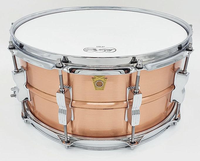 "Ludwig 14"" x 6.5"" LC654B Acro Copper Snare Drum"