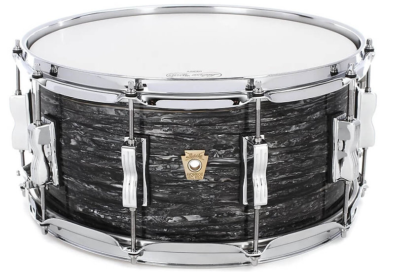 """Ludwig 14"""" x 6.5"""" Classic Maple Snare Drum - Vintage Black Oyster"""