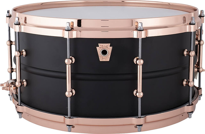 """Ludwig 14"""" x 6.5"""" Hot Rod Black Beauty Snare Drum LB427TDC"""