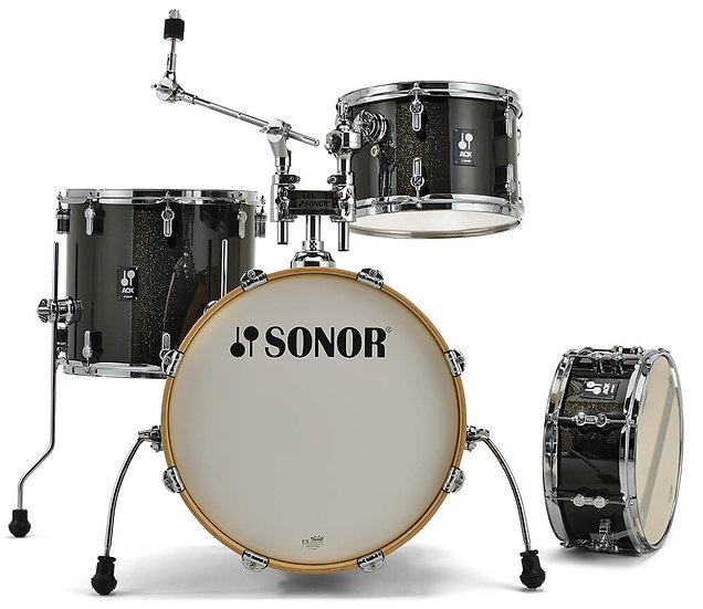 Sonor AQX Jazz Drum Kit - Black Midnight Sparkle