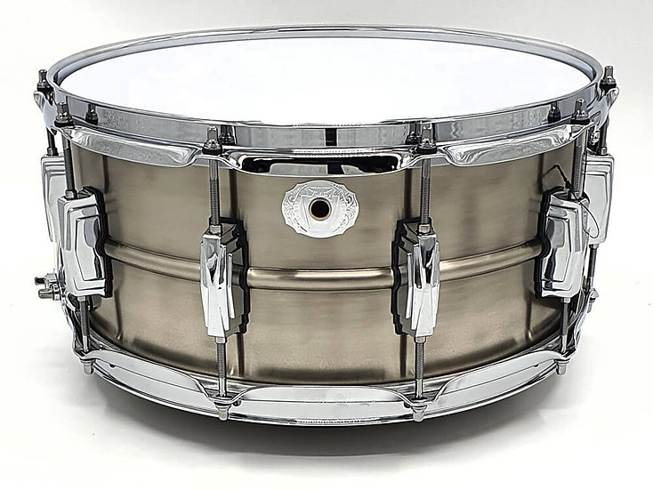 """Ludwig 14"""" x 6.5"""" Pewter Copperphonic Snare Drum"""