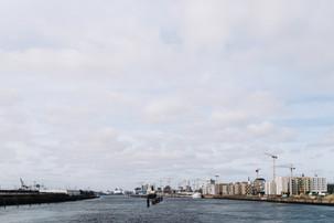 view from the Freihafenelbbrücke (Hamburg, Germany)