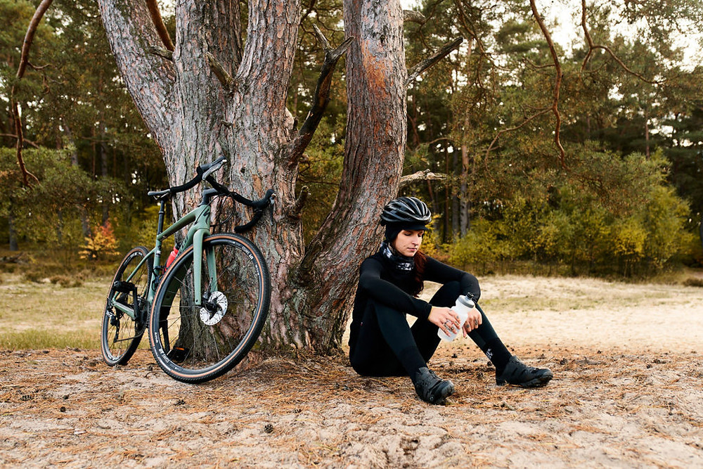 Taking a rest during a ride on a Specialized Turbo Creo SL Comp Carbon EVO