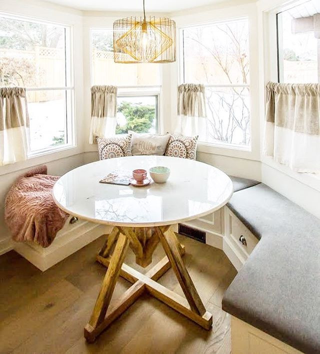 Custom breakfast nook with pull out draw