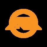 Logo only orange on transparent backgrou
