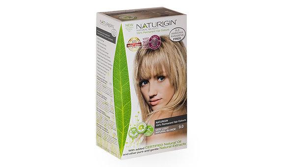 Naturigin 9.0 VERY LIGHT NATURAL BLONDE Permanent ORGANIC Hair Color Dye