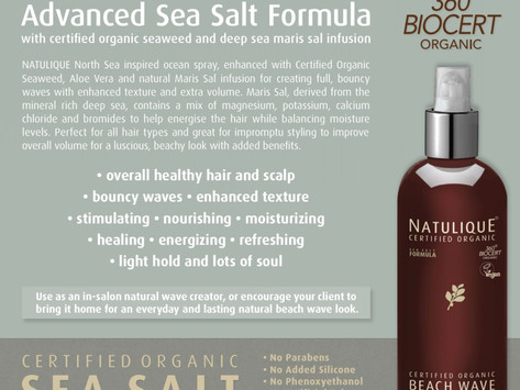 Give your hair Volume after wash with Certified Organic Sea Salt FormulaBeach Wave OceanSpray