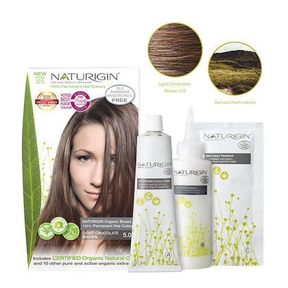 Naturigin 5.0 CHOCOLATE BROWN Permanent ORGANIC Hair Color Dye