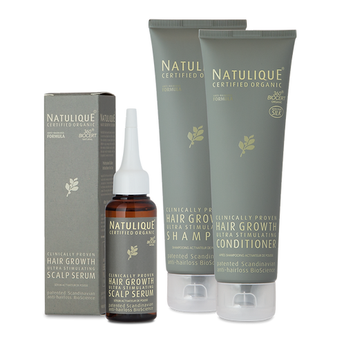 Organic Hair Growth Set + Free Exfoliating Scalp Treatment $118