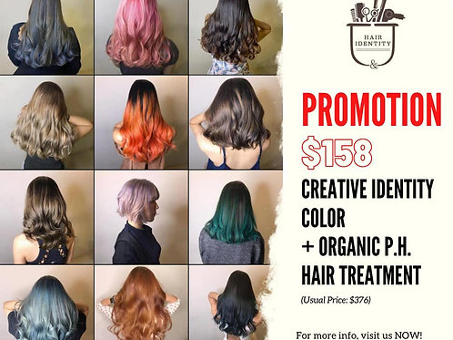 Creative Color + Organic P.H. Treatment $158