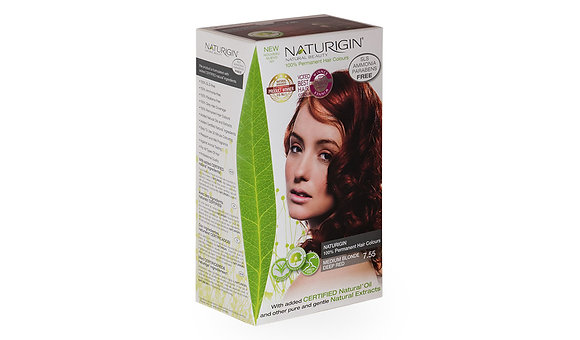 Naturigin 7.55 MEDIUM BLONDE DEEP RED Permanent ORGANIC Hair Color Dye