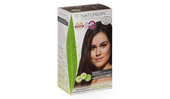 Naturigin 4.0 BROWN Permanent ORGANIC Hair Color Dye