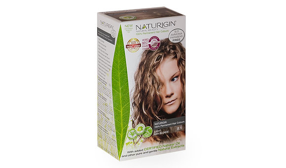 Naturigin 8.1 LIGHT ASH BLONDE Permanent ORGANIC Hair Color Dye
