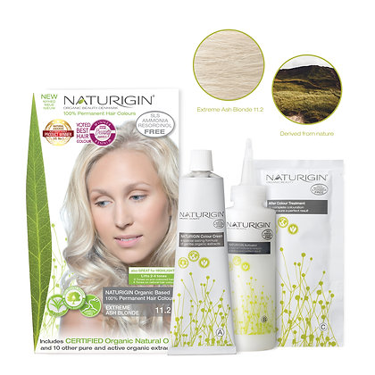 Naturigin 11.2 EXTREME ASH BLONDE Permanent ORGANIC Hair Color Dye