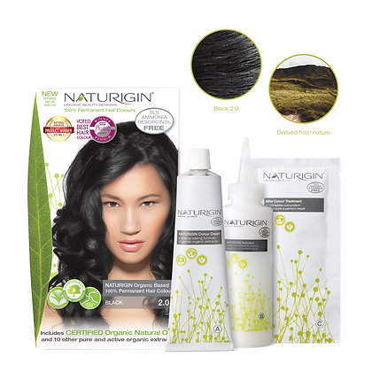 Naturigin 2.0 BLACK Permanent Organic Hair Color dye