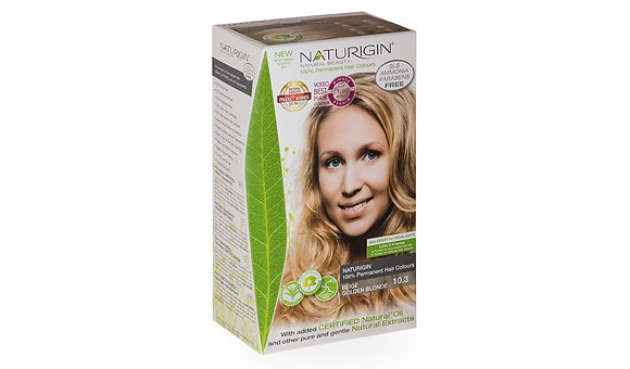 Naturigin 10.3 BEIGE GOLDEN BLONDE Permanent ORGANIC Hair Color Dye