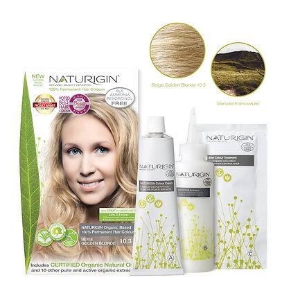 Naturigin 10.3 BEIGE GOLDEN BLONDE Permanent ORGANIC Hair Color Dye