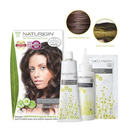 Naturigin 3.0 DARK COFFEE BROWN Permanent ORGANIC Hair Color Dye
