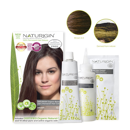 Naturigin 4.0 BROWN Permanent ORGANIC Hair Color Dye