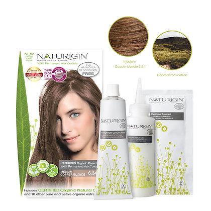 Naturigin 6.34 MEDIUM COPPER BLONDE Permanent ORGANIC Hair Color Dye