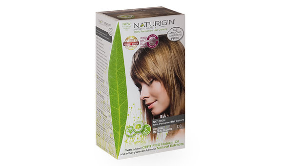Naturigin 7.0 NATURAL MEDIUM BLONDE Permanent ORGANIC Hair Color Dye