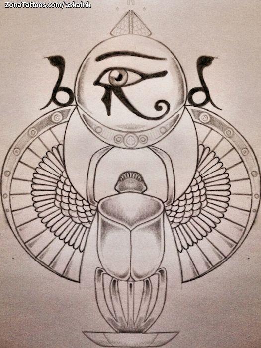 Diseño de Egipcios, Ojo de Horus, Escar