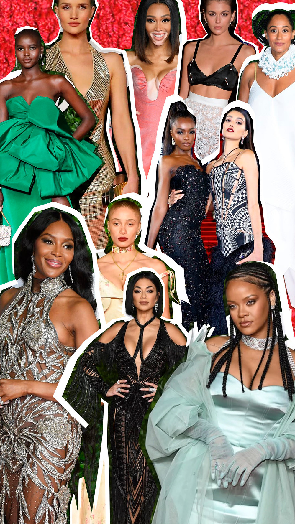 Photo montage of the 10 Best Dressed at Fashion Awards 2019