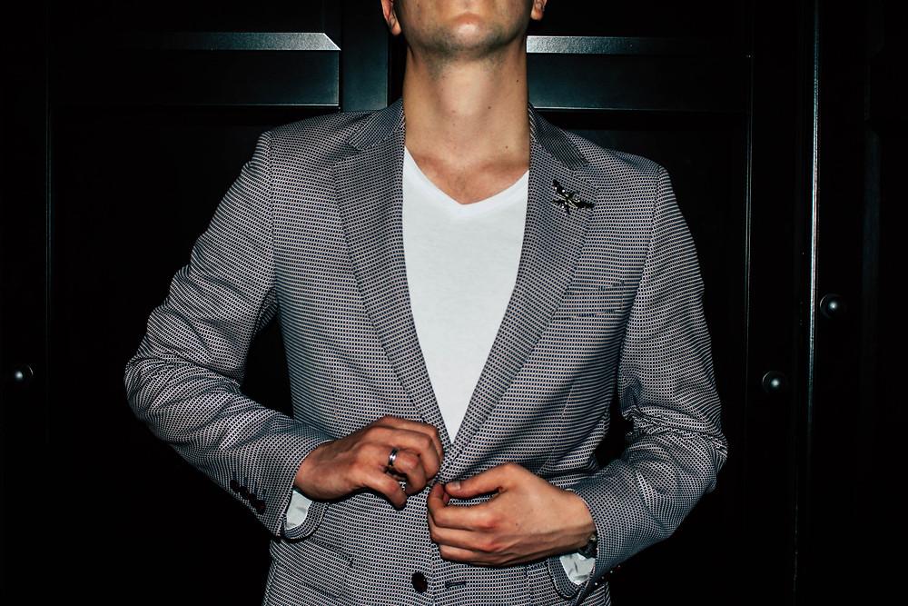 Mr Neo Luxe in Calibre's Stretch Jacquard Blazer