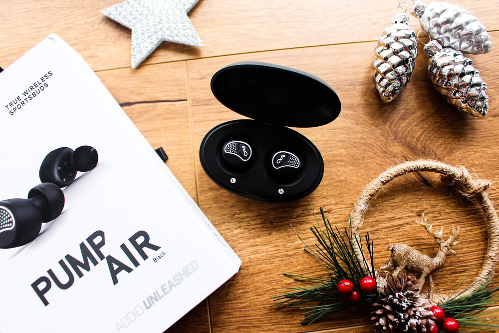 Mr Neo Luxe Christmas Gift Guide BlueAnt Pump Air Wireless earbuds